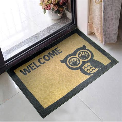 Microfibre Door Mat by 50cmx70cm Owl Anti Slip Bath Mat Microfiber Door