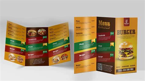 create a tri fold restaurant brochure photoshop tutorial create a tri fold restaurant brochure photoshop tutorial