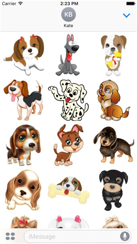 happy cute  fun puppy dog emoji photo stickers app