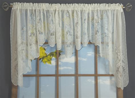 lace swag valance curtains vanessa lace swag valance thecurtainshop com