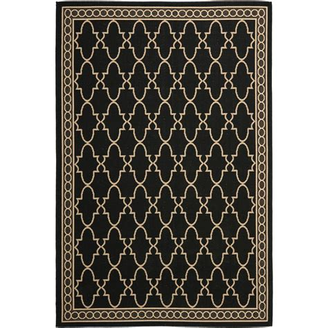 Black Indoor Outdoor Rug Safavieh Courtyard Black Beige 8 Ft X 11 Ft Indoor Outdoor Area Rug Cy5142d 8 The Home Depot