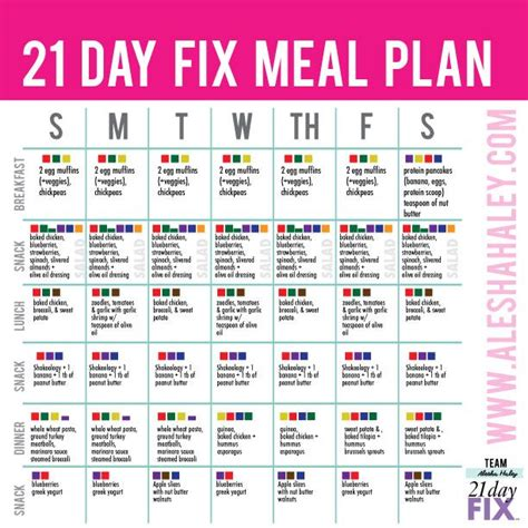 printable meal plan for 21 day fix 21 day fix meal plan 21 day fix pinterest meals