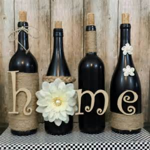 Hourglass Home Decor Decorated Wine Bottles Hand Painted Set Of Wine Bottles