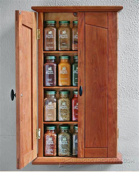 spice cabinet plans woodarchivist