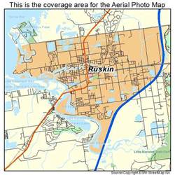 aerial photography map of ruskin fl florida