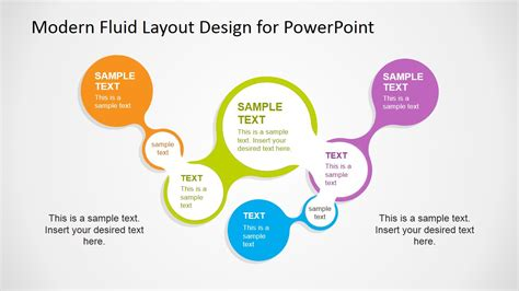 fluid layout email design modern fluid layout design for powerpoint slidemodel
