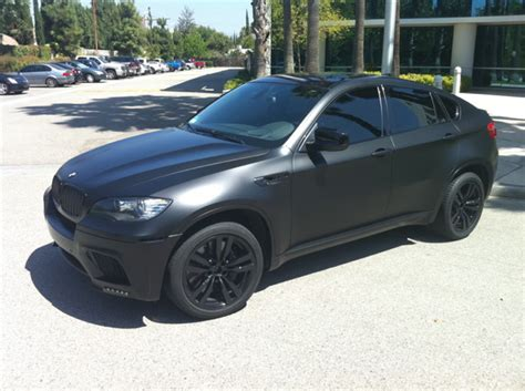 bmw x6 in black bmw x6 m wrapped in matte black black exteriors