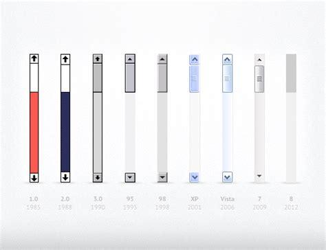 scrollbar ui pattern scroll bar history graphics ux kd