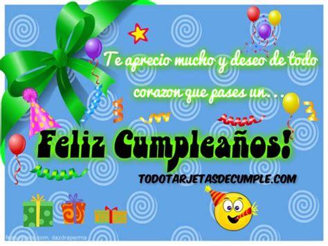 imagenes para cumpleaños com tarjeta de cumplea 241 os con adornos y frase