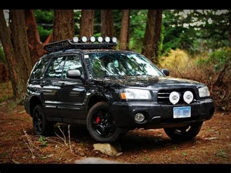 2003 subaru forester off road lighting youtube