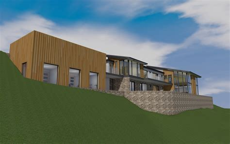 house modeling software contemporary hillside house using 3d modelling software