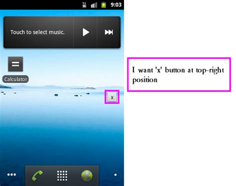 android layout free position android move button to top right position in translucent