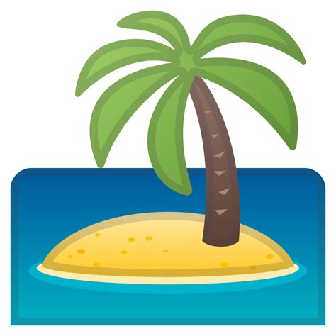island emoji desert island icon noto emoji travel places iconset