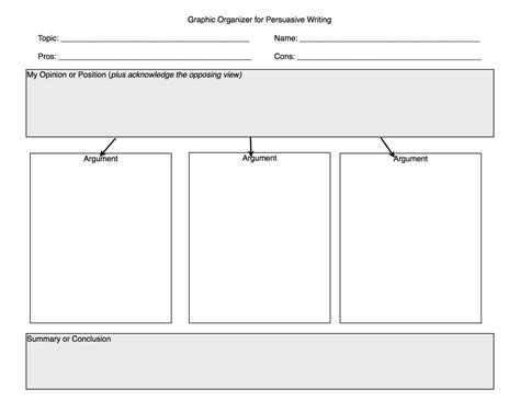How To Make A Graphic Organizer On Paper - opinion writing graphic organizer once the essay is