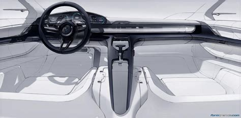 porsche cars interior porsche mission e interior sketch by felix godard car