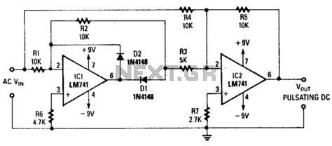 rectifier circuit using op gt audio gt mixers gt precision wave rectifier l14231 next gr