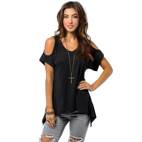 amazon off the shoulder shirts tops tees new summer women off shoulder shirt casual loose t shirts