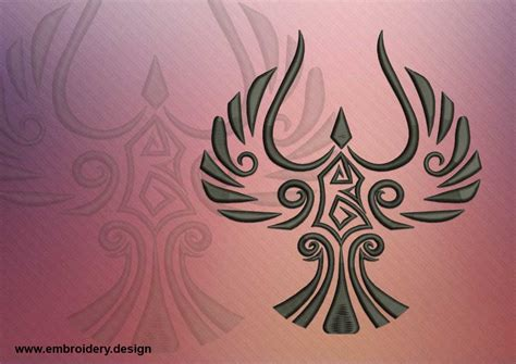 embroidery tattoo celtic bird embroidery design