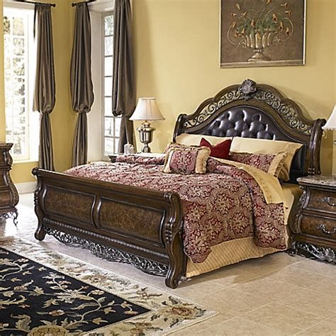 pulaski bedroom sets pulaski birkhaven 4 piece queen bedroom set in brown bed