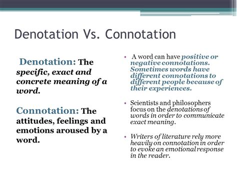 denotation vs connotation ppt video online download
