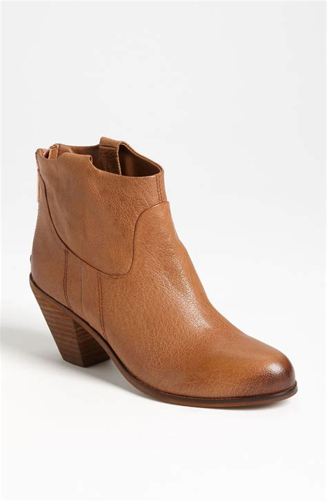 sam edelman boot sam edelman lisle boot in brown saddle leather lyst