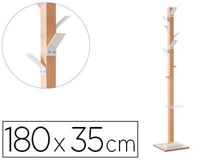 perchero oficina perchero de oficina de madera con colgadores en blanco