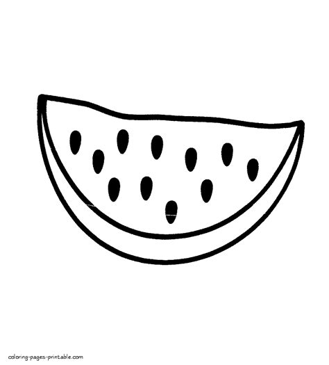 preschool watermelon coloring pages printable coloring pages of fruits and vegetables