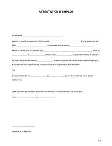 certificat de travail mod 232 le word et pdf 224 imprimer