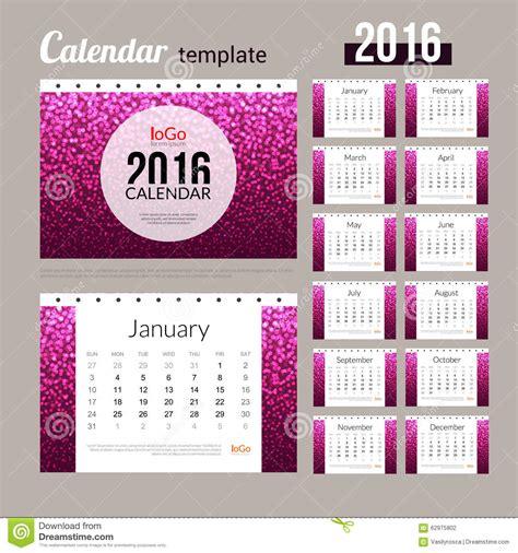calendar design pattern desk calendar 2016 design template with abstract stock