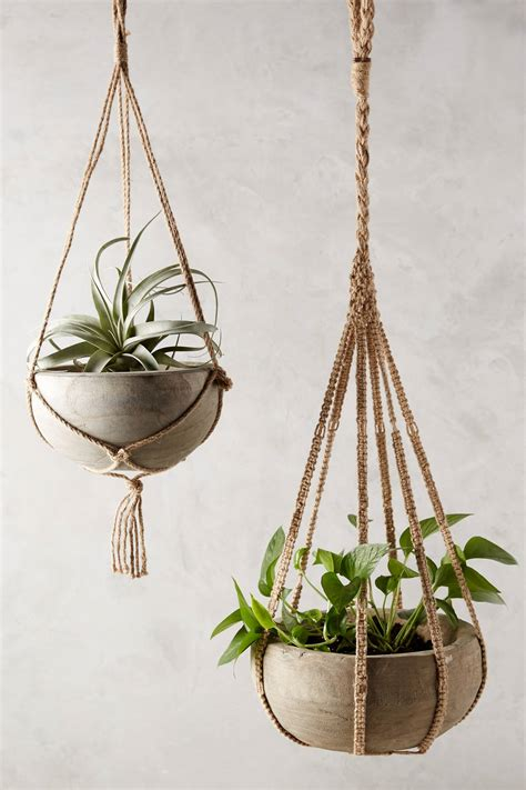 Hanging Macrame Planter - anthropologie macrame planter gardenista