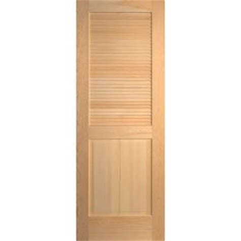 Interior Louvered Doors Home Depot Masonite 30 In X 80 In Smooth Half Louver Solid Unfinished Pine Interior Door Slab 243175