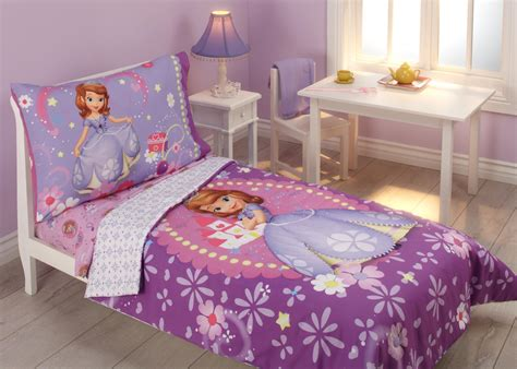 sofia the first bedroom disney sofia the first toddler girl s 4 piece bedding set