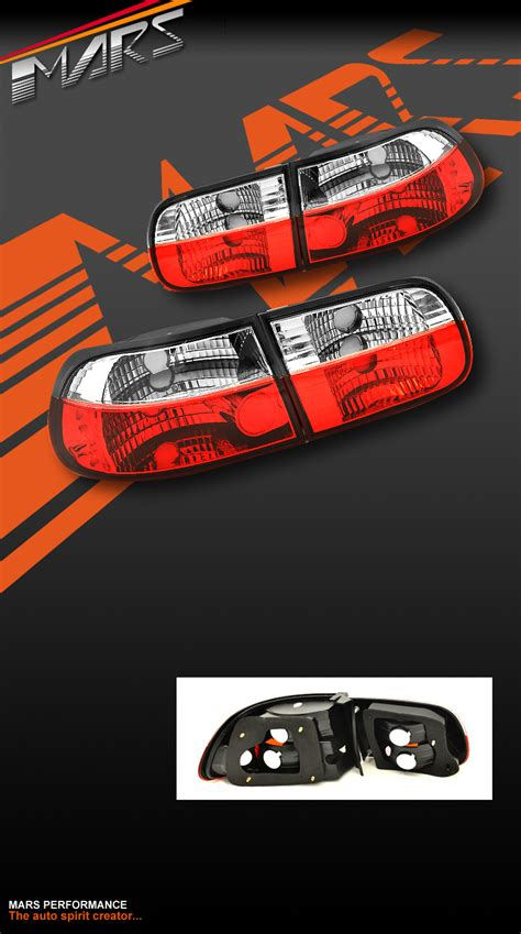 eg hatch clear tail lights for sale jdm clear red tail lights for honda eg 92 95 3 doors hatch