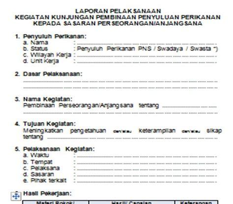 contoh format askep komunitas komunitas penyuluh perikanan contoh format laporan