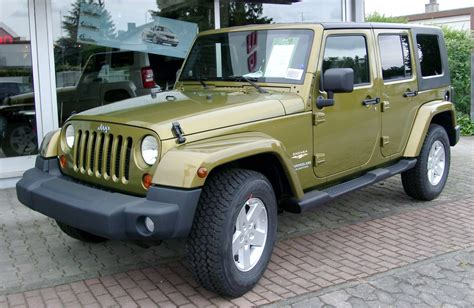 types of jeeps list file jeep wrangler unlimited front 20080521 jpg