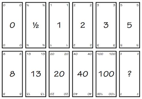Planning poker cards download pdf