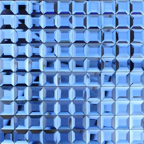 Cheap Backsplashes For Kitchens by Blue Glass Mosaic Tile Backsplash Pyramid 3d Shower Wall