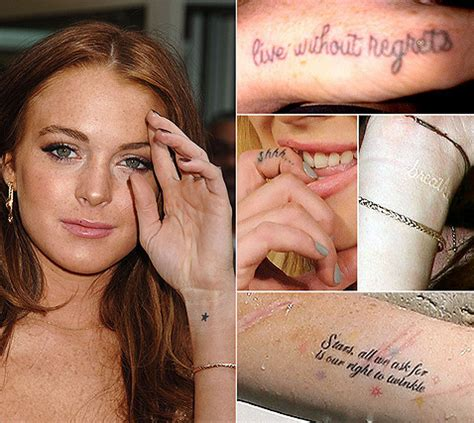 celebrity small tattoos lindsay lohan tattoos