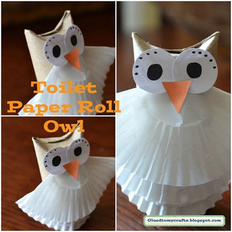 How To Make Owls Out Of Toilet Paper Rolls - toilet paper owl crafts