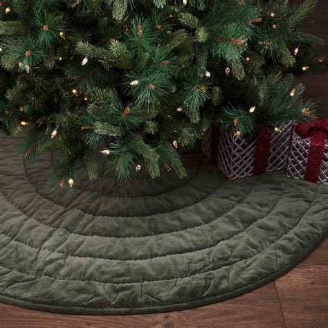 green velvet christmas tree skirt by vhc brands the