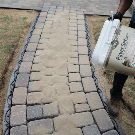 Patio Block Sand by How To Design And Build A Paver Walkway