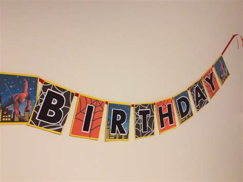 printable spiderman birthday banner how to make a spiderman superhero happy birthday banner
