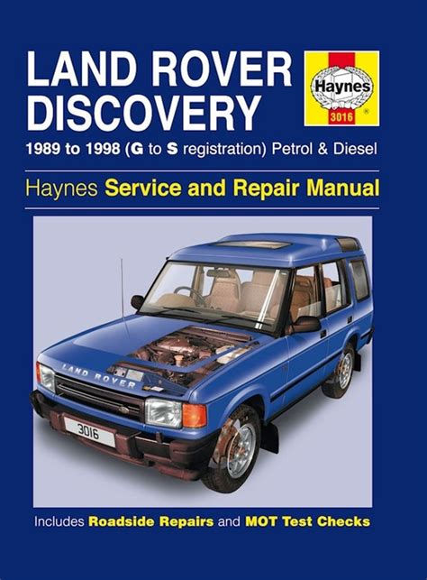 automotive repair manual 1998 land rover discovery parking system land rover discovery repair manual 1989 1998 haynes 3016