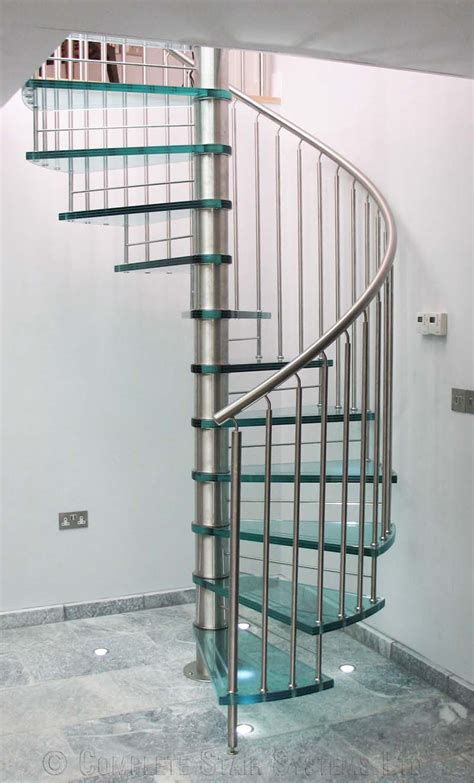 spiral staircase suffolk a bespoke glass tread spiral