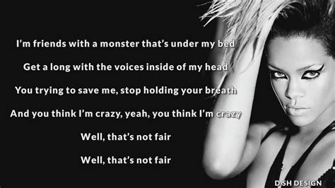 monsters under my bed lyrics eminem feat rihanna the monster şarkı s 246 zleri lyrics