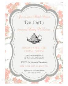 bridal shower high tea invitation printable