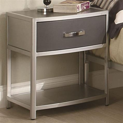 Metal Nightstands With Drawers Amazing Nightstand Appealing Metal Nightstands With Drawers Regarding Metal Nightstand