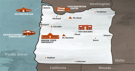 map of oregon colleges about oregon state oregon state
