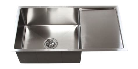 steel kitchen sink 36 quot stainless steel undermount kitchen sink w drain board