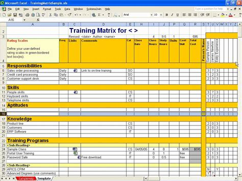 best photos of excel matrix template matrix